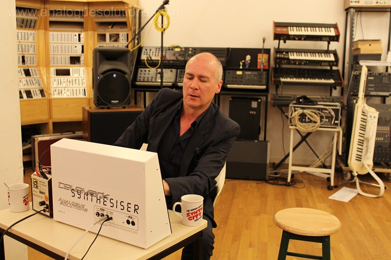 Phil Oakey playing w/ his Telemark Synth (w/ Sound of Science)